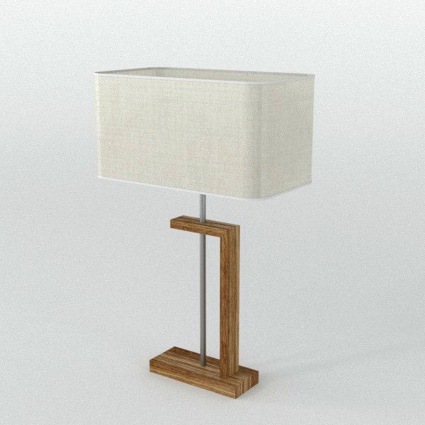 nateza wooden table lamp lighting 3D