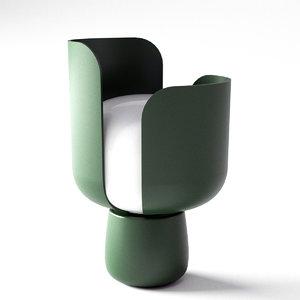 3D blom table lamp