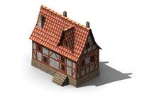 3D model house fachwerk