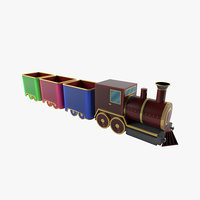 train modeled ready 3D model