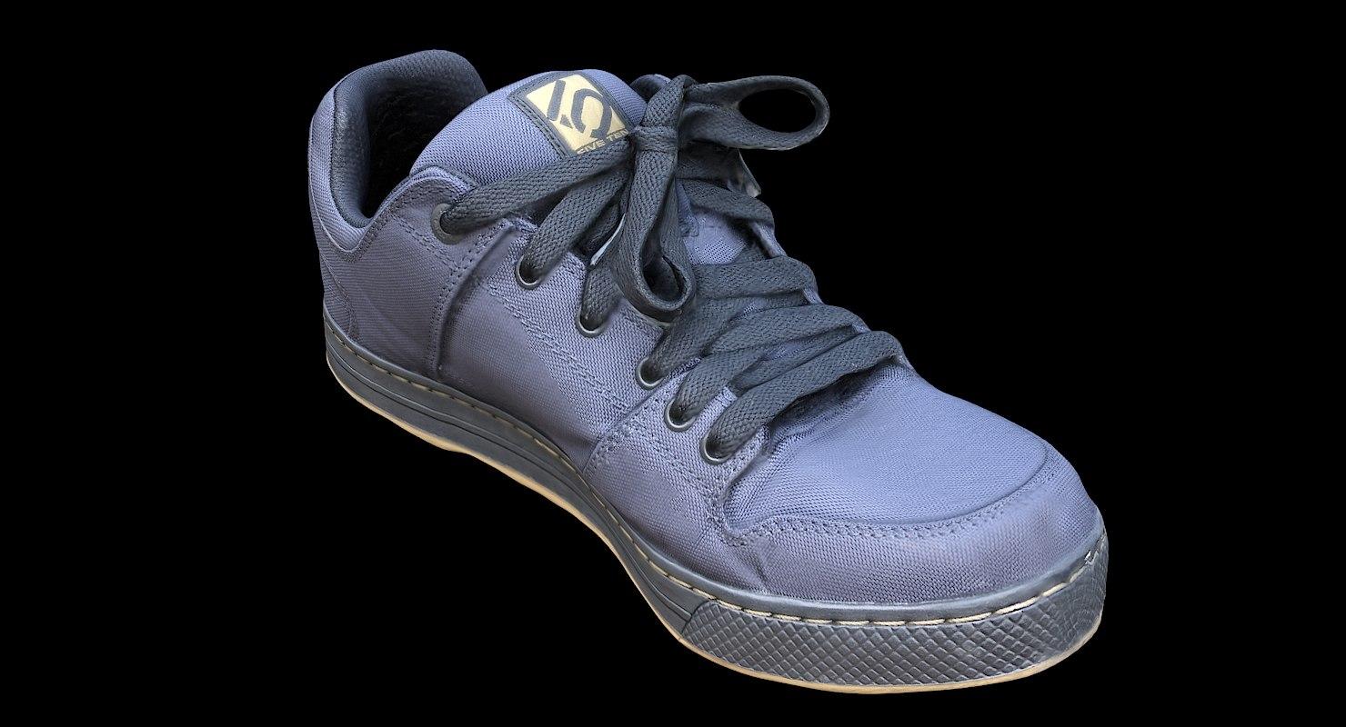 3D model scan fiveten freerider shoes