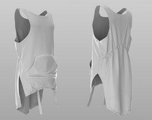 puffer tshirt 3D model
