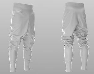 puffer pants - trousers 3D model