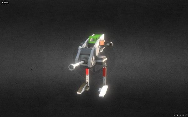 lego sw clone walker 3D