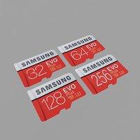 micro sd card 3D