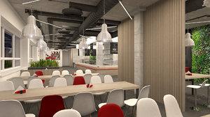 dining hall 3D model