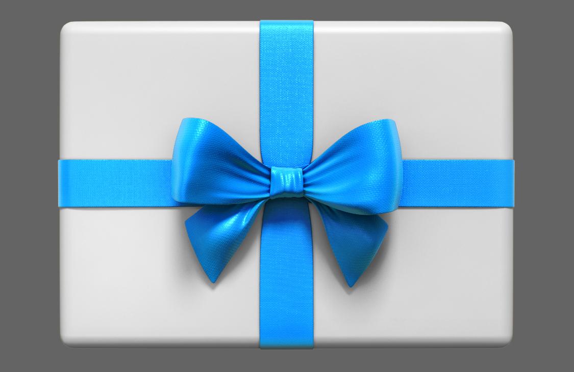 3D ribbon gift box