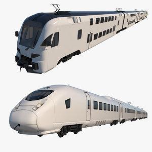 trains eurostar 3D model