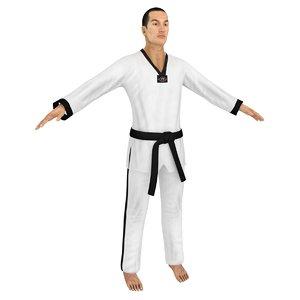 taekwondo martial artist model