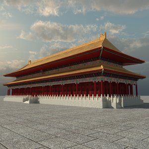 3D forbidden city model