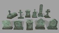 3D tombstone 1 model