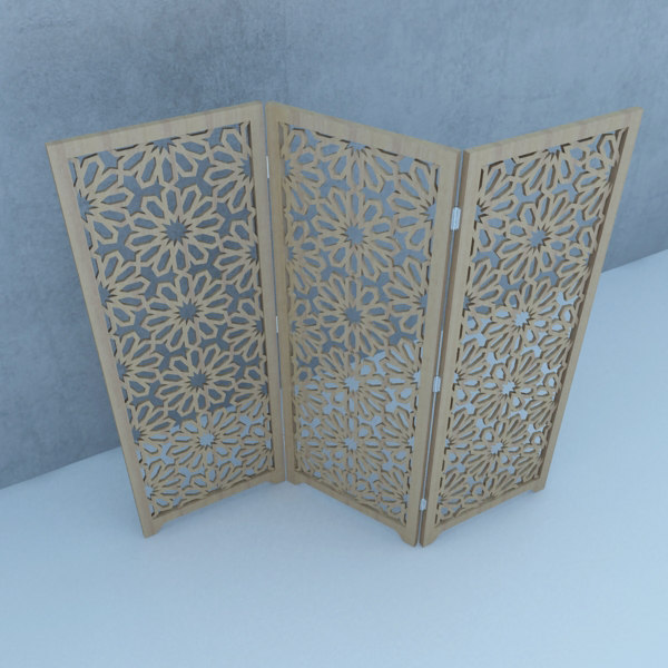 3D moroccan wood screens traditional