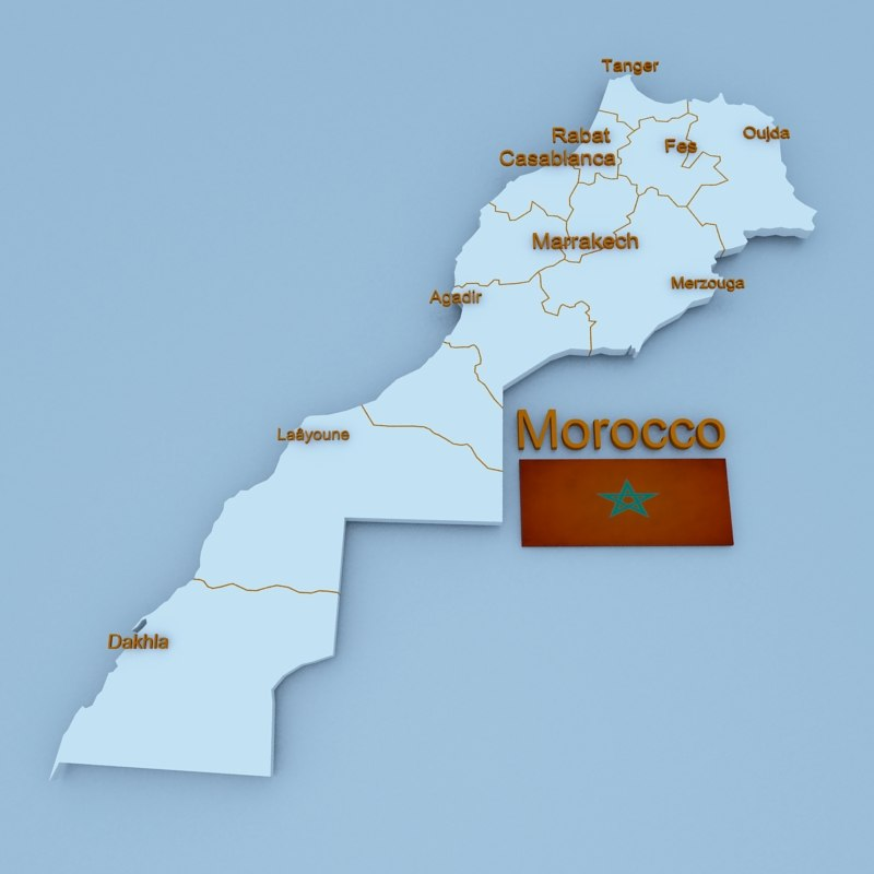 3D morocco country model