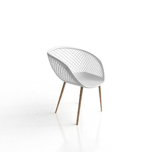 3D cb2 sidera white chair