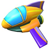cartoon jet 3D model