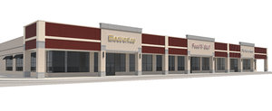 retail mall building 3D model
