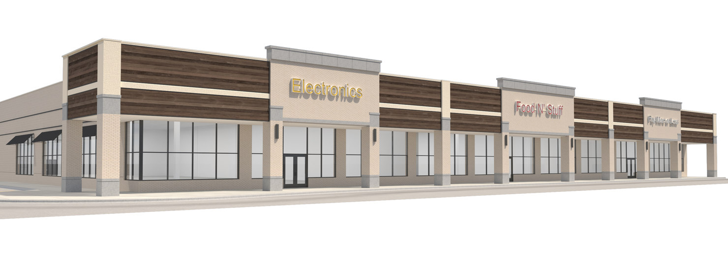 3D model retail building mall