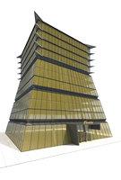 3D office building skyscraper tower