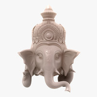 3D figurine ganesha faces