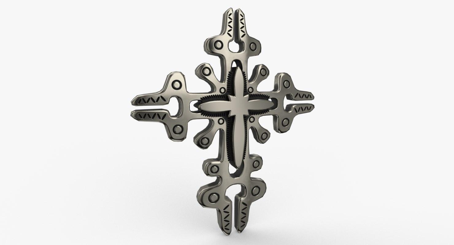 cross pendant 3D model