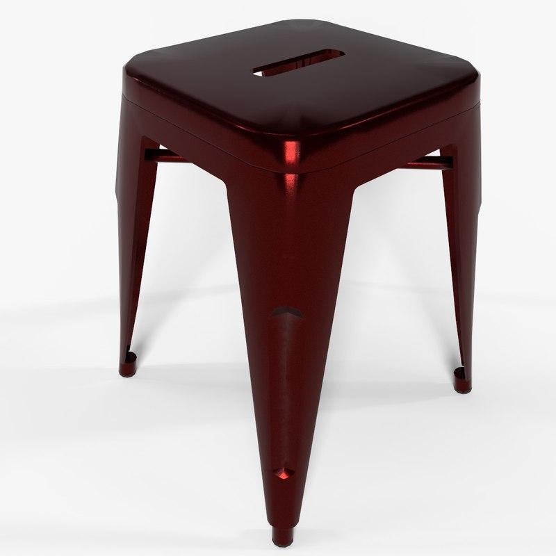 3D steel pbr stool