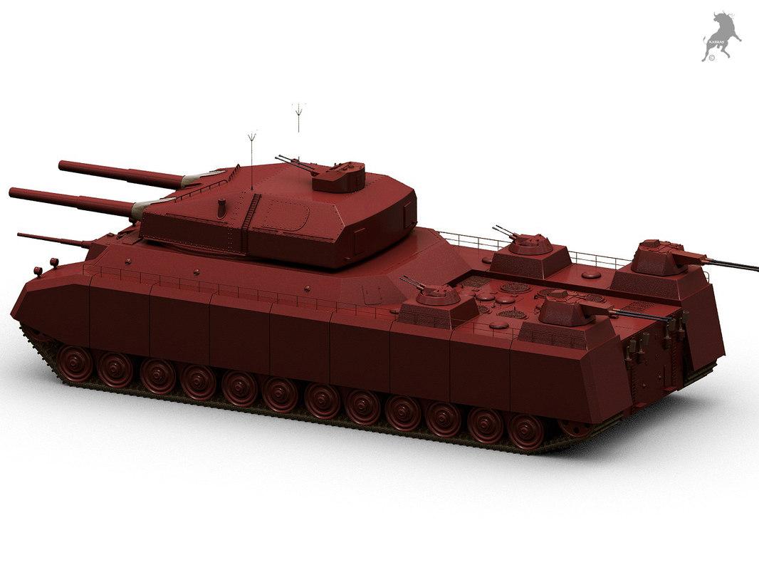 landkreuzer p 1000 ratte 3D