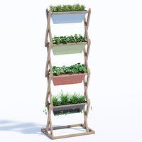 3D model pflanzgestell vertical garden