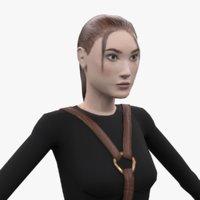 3D female black model