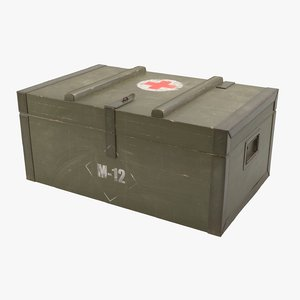 3D army medical box