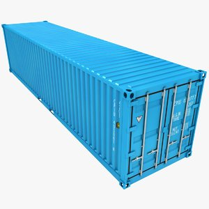 3D container 40ft azure