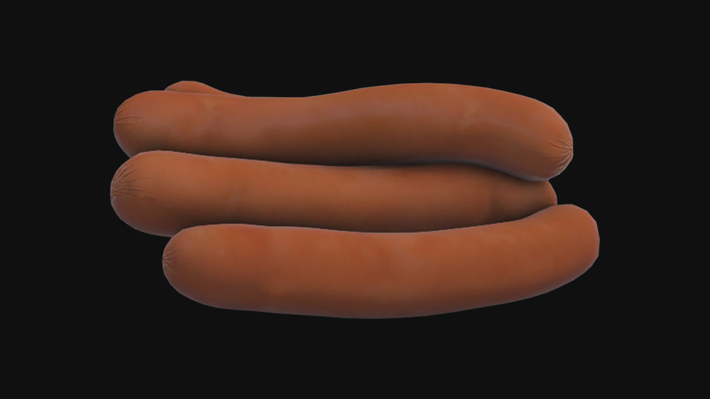 3D saucisses sausages model