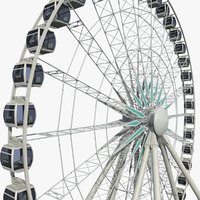 Sky Wheel with Boarding Platform
