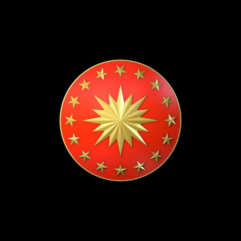 3D presidents turkey logo model