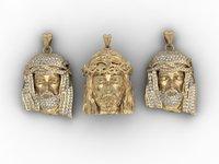 jesus head pendants pack 3D