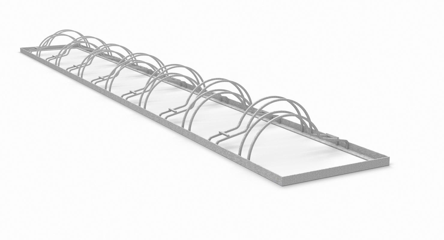 rack bicycle 3D model