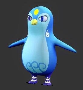 3D penguin vr bird model