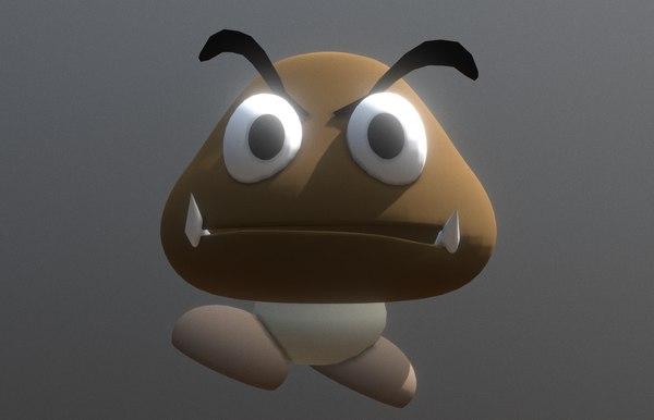3D goomba model