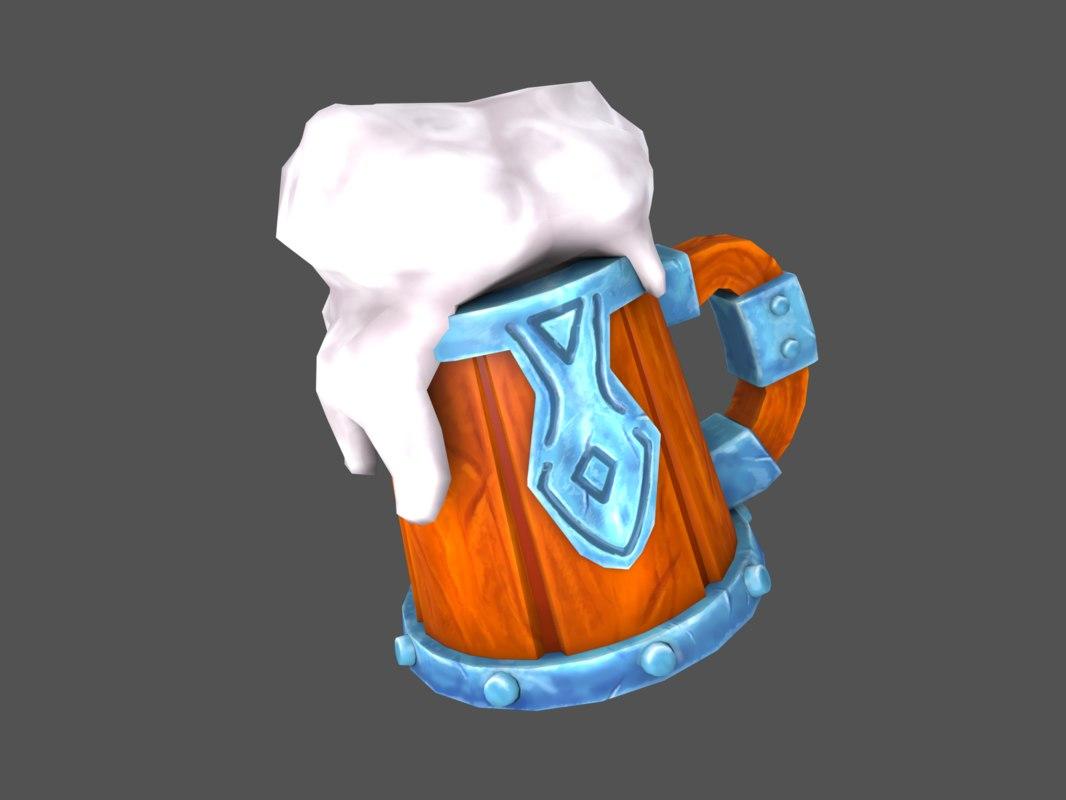 beer mug 3D