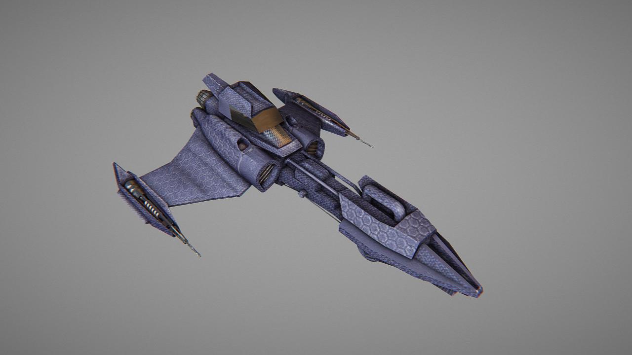 alien space ship model