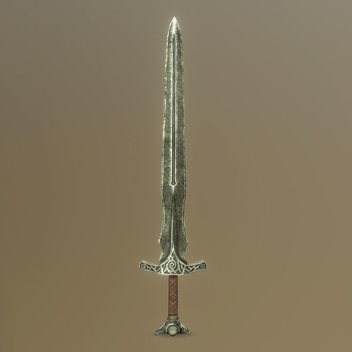 3D skyrim steel sword - model