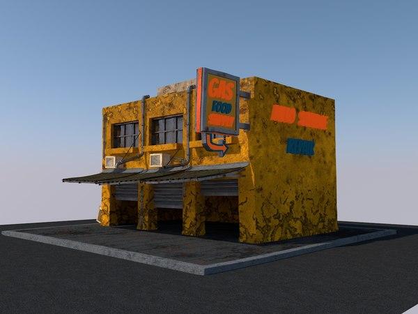 3D model building gaming background