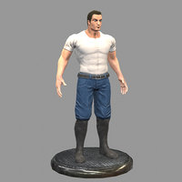 3D gangster gang man model