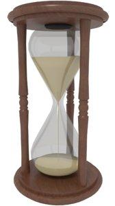 hourglass sand 3D model