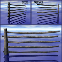 medieval style fence 3D model