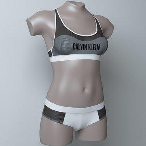 3D lingerie mannequin