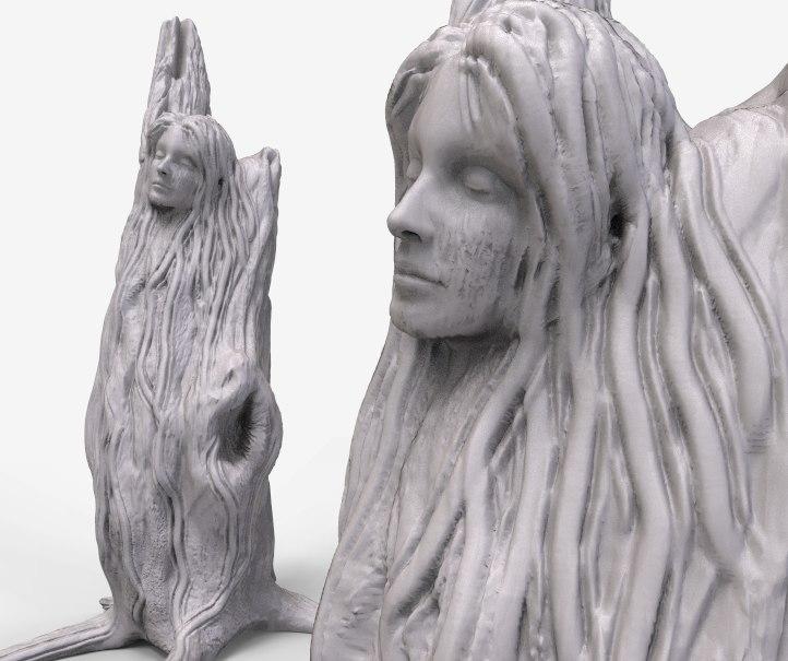 3D lady tree