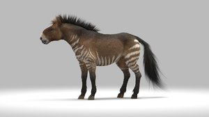 hippidion extinct horse 3D