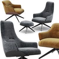 3D molteni kensington armchairs set