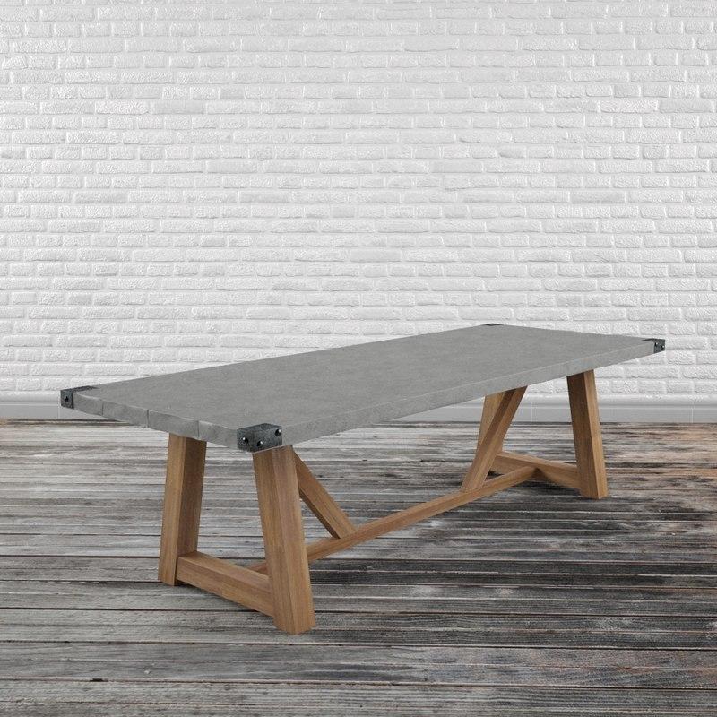 3D concrete table model