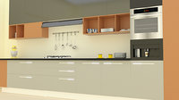3D kitchen room model